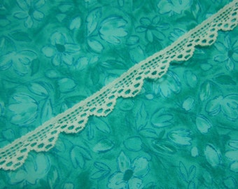 1 yard of 1/4 inch White Chantilly lace trim for wedding, bridal, baby, lingerie, hair accessories by MarlenesAttic - Item TT1