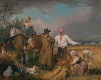 "James Ward : ""The Reapers"" (1800) - Giclee Fine Art Print"