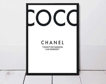 Wall Art, Poster, Feminist, Chanel, Home Decor, Print, Abstract Art, Dior, Gift For Her, Coco, Gift For Him, Modern Art, Gift, Framed Art