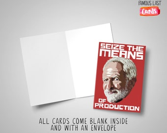 Seize the means of production! Jeremy Corbyn - Comrade cards for cool communists