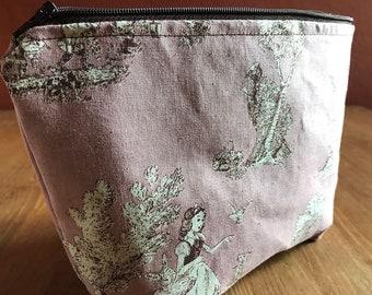 Project bag, zippered project bag, yarn bag, knitting bag, knitting project bag, sewing bag, travel bag