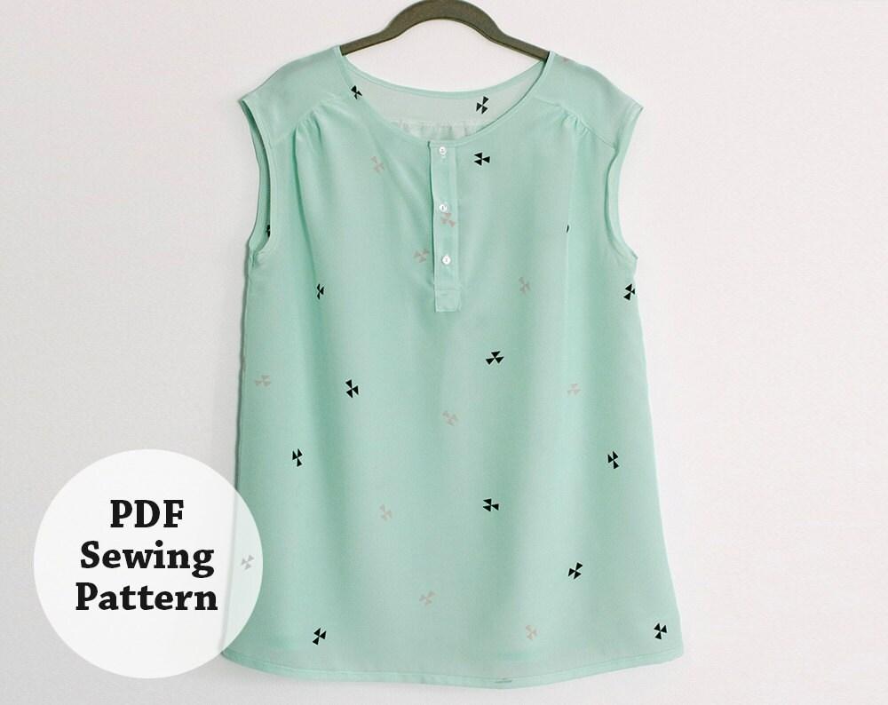 Mercer tunic pdf sewing pattern womens apparel zoom jeuxipadfo Gallery