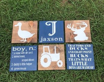 tractors and ducks and eight point bucks, duck, tractor, buck, rustic decor, rustic boy bedroom, rustic nursery, woodland decor,
