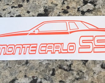 Monte Carlo SS Aerocoupe Outline Decal