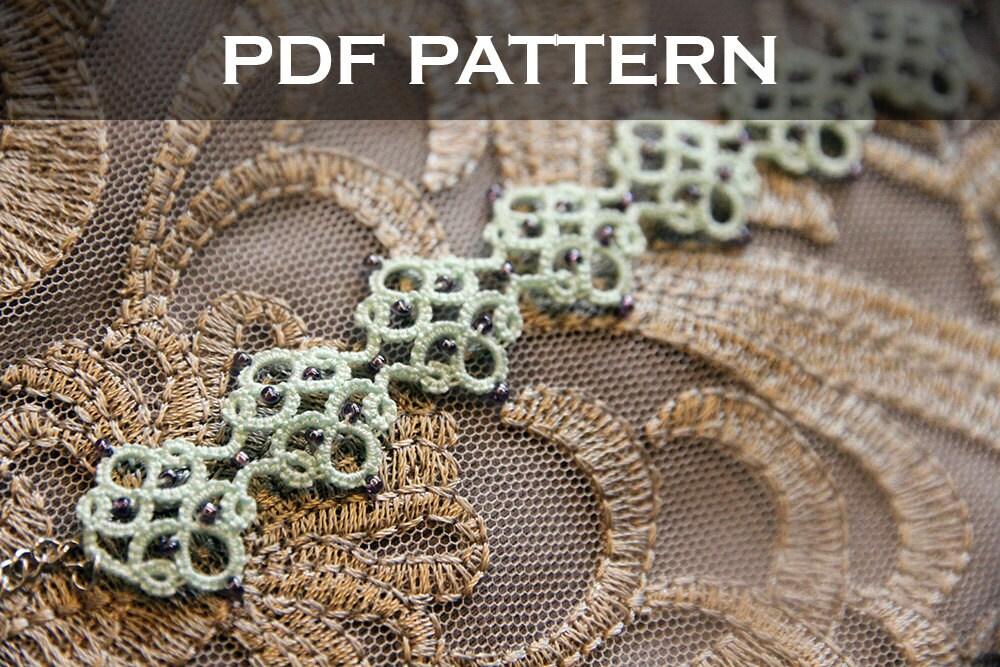 Tatting Lace Bracelet Pdf Pattern Medieval Tile From