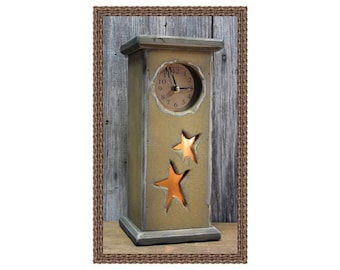 Primitive Star Clock/Nightlight