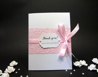 Thank You From the Bachelorette- Wedding Engagement, Bridal Shower, Bachelorette Party Thank You Cards, Bridal Shower Thank you Bridal Party