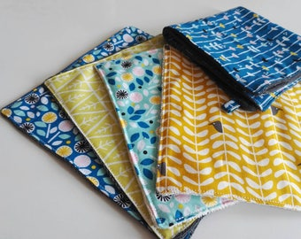 ORGANIC washable paper towels, tea towel / towels 2 in 1, organic, many patterns available