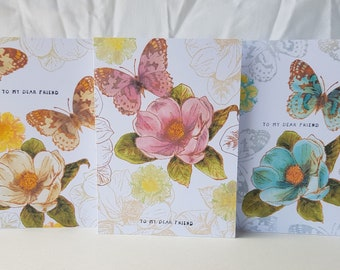To My Dear Friend - Printed Greeting Card Set