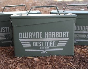 Groomsman Gift Box, Custom Ammo Can