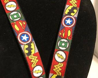 Super Hero character lanyard