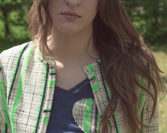 Jacket Zoey-Tweed Fluo Framework