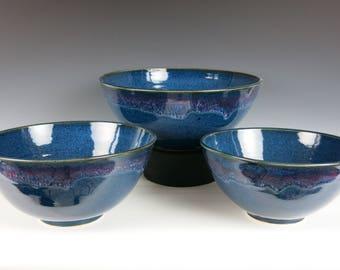 ceramic nesting bowls, bowl set, stacking bowls, stoneware bowls, serving bowls, handmade, mixing bowls, kitchen bowls, pottery bowls
