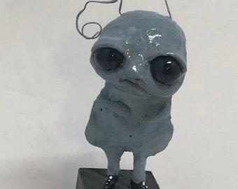 Blake the blue snail Original one of a kind art doll