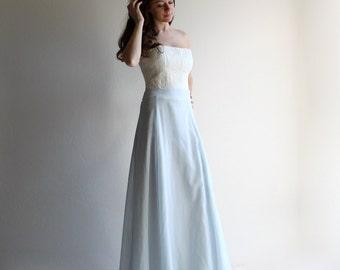 Blue wedding skirt, bridal separates, long skirt, alternative wedding dress, wedding separates, bridesmaids skirt, modest wedding dress