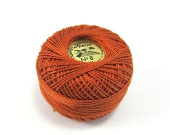Finca Perle Cotton Thread Pearl Cotton - Red Copper