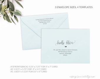 printable envelope template editable envelope template a7