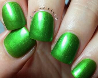 Green! handmade artisan nail polish