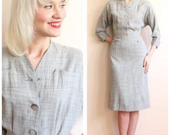 1940s Dress // Charles Hymen Gab Dress // vintage 40s dress