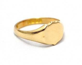 Shield Shape Signet Ring