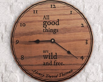Travel Quotes - Gift for Travelers - Overseas Gift - Explore - All Good Things Are Wild And Free Quote - Henry David Thoreau Quote