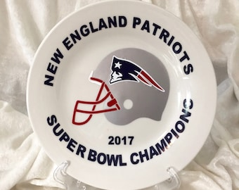 New England Patriots 2017 Super Bowl Champions Commemorative Plate