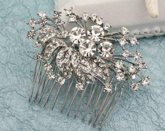 Bohemian Wedding hair comb,Boho hair piece,Bridal hair comb,Crystal hair clip,Wedding hair comb,Rhinestone hair pins,bridesmaid hair comb