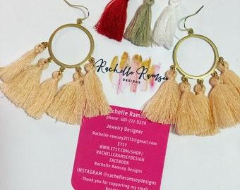 Tassel earrings (choose color)