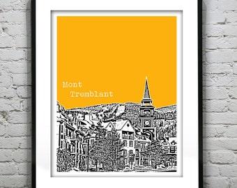 Mont Tremblant Quebec Skyline Poster Art Print Canada
