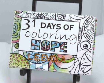 31 Days of Coloring Hope box of postcards to color