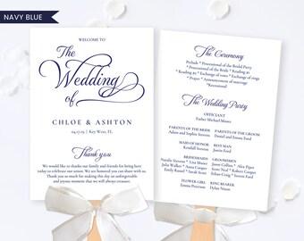Navy Blue Wedding Program Fan,Navy Wedding Program Fan,Program Fan Wedding,Navy Blue Fan Wedding,Wedding Program Fan Printable,Pdf Download