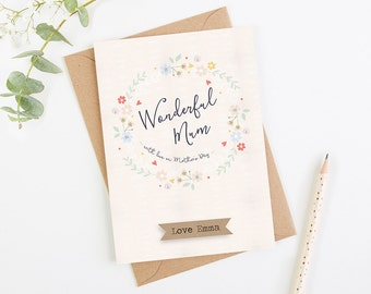 Wonderful Mum Mother's Day Card Personalised