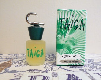 Taiga eau de toilette for women by Gandini, 5 ml / 0.17 fl. oz. new in box, distributed by Promoparf