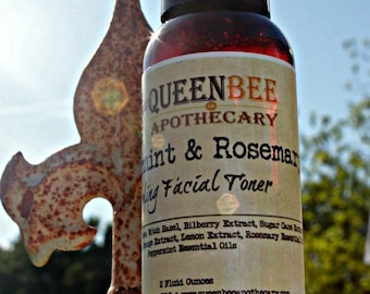 Peppermint & Rosemary Cooling Skin Toner - All Natural - 2 Ounce