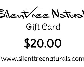 GIFT CARD - 20 DOLLARS, Natural Products, Gift Certificate for Birthdays, Holidays, Mother's Day, Christmas