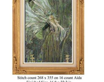 Dryad, wood nymph, wood fairy, fairy, beautiful fairy, forest fairy