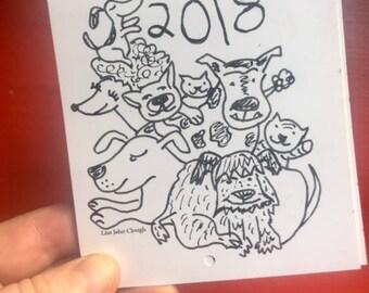 2018 Itty Bitty Calendar! AVAILABLE NOW!
