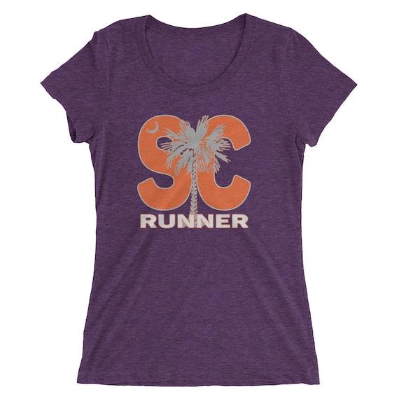 Women's South Carolina Runner Triblend T-Shirt - Run South Carolina - Orange - Women's Short Sleeve Running Shirt