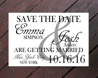 Save the Date, Custom Save the Date, Engagement, Modern Save the Date, Save the Date Card, Wedding Save the Date, Elegant Wedding