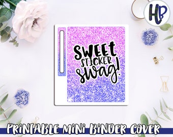 Ombre Printable Mini Binder Cover With Cut File *DIGITAL*