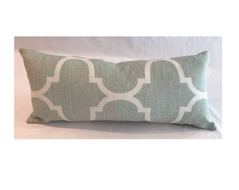 "10"" x 22"" Windsor Smith for Kravet in Riad Reverse Seafoam"