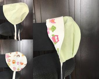 Sun bonnet, baby, 12-18 month sizing