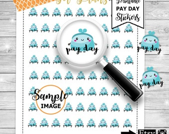 Pay Day Planner Stickers - PayDay Stickers - Printable Stickers - Pay day Stickers - Agenda Stickers