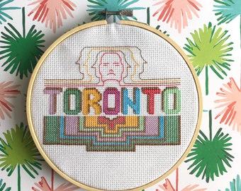 Cross Stitch DIY Kit, Toronto Retro