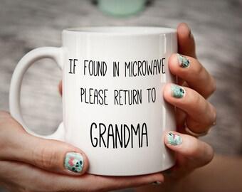 Please Return to Grandma Funny Humorous Mothers' Day Mug Grandparents Day Gift Grandma Gift Grandmother Gift Coffee Gift
