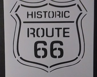 Historic U.S. Route 66 Street Sign Custom Stencil FAST FREE SHIPPING