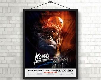 Kong Skull Island Artwork Poster