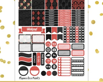 DARK ROMANCE  PRINTABLE Planner Stickers | Instant Download | Pdf and Jpg Format