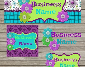 Turq & Purple Facebook Business Set