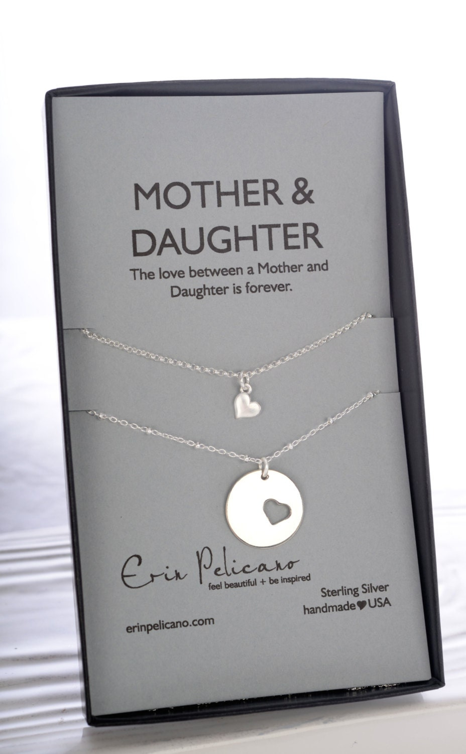 Unique Gifts for Mom Mother Daughter Necklace Mother of the Bride DC42
